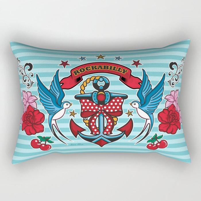 Rockabilly Style No.1 Rectangular Pillow