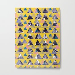 MOUNTAIN OF TRIANGLES Metal Print