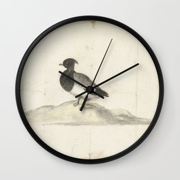Kuifeend, Anna Cornelia Moda, 1600 - 1699 Wall Clock