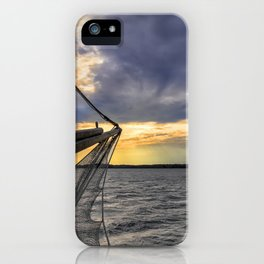 Sunset off the Bow iPhone Case