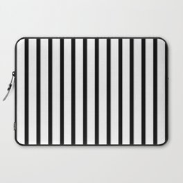 Stripes Black And White | Beetle Juice | Fuzzy Laptop Sleeve