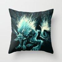 werewolf Throw Pillows featuring Werewolf. by Danilo Sanino