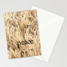 Live in Peace Stationery Cards