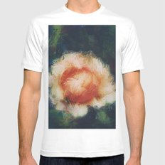 Rose White Mens Fitted Tee MEDIUM