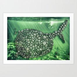 Ballena Espiral Art Print