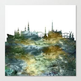 Amsterdam Skyline Holland Canvas Print