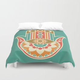 Colorful Hamsa Hand Duvet Cover