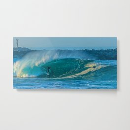 Surfing the Wedge Metal Print
