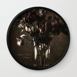 madly in love Wall Clock