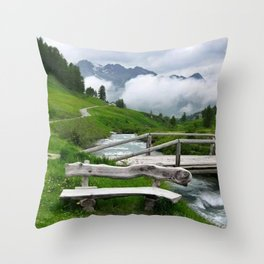 GREEN ART Throw Pillow