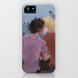 Enjolras, Grantaire and twilight over Paris iPhone Case