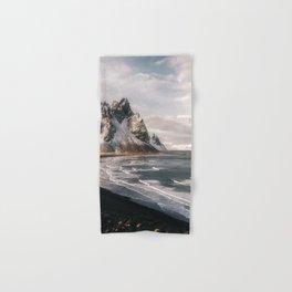 Stokksnes Icelandic Mountain Beach Sunset - Landscape Photography Hand & Bath Towel