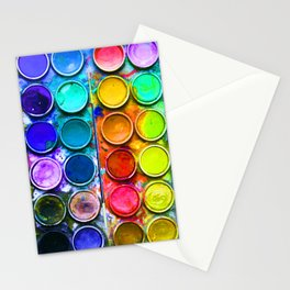 Watercolor Art Palette Stationery Cards