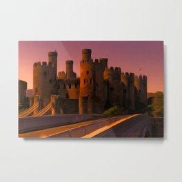 Conway (Conwy) Castle (Digital Art) Metal Print