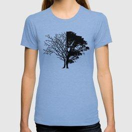 Half Tree Leaves Half No Leaves Art T-shirt