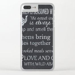 This Kitchen is Seasoned With Love Clear iPhone Case
