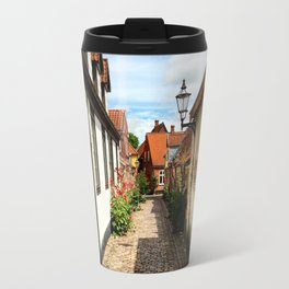 Narrow streets of Ribe Travel Mug