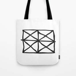 Tribal Print B&W- 05 Tote Bag