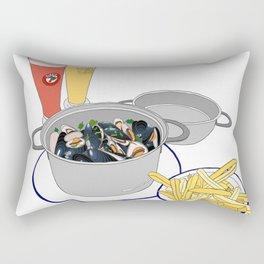 Mussels from Brussels Rectangular Pillow