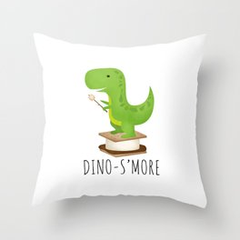 Dino-S'more Throw Pillow