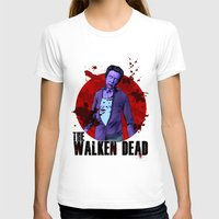 christopher walken T-shirts featuring The Walken Dead – The Walking Dead Parody – Christopher Walken Zombie by ptelling