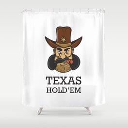 Texas hold 'em Shower Curtain