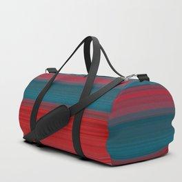 red horizontal lines Duffle Bag