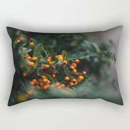 Winter Berries in London Rectangular Pillow