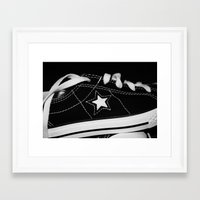 shoe Framed Art Prints featuring shoe by KimberlySS