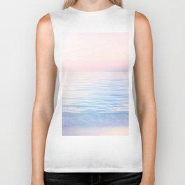 Dreamy Pastel Seascape 2. Blue & Nude #pastelvibes #Society6 Biker Tank