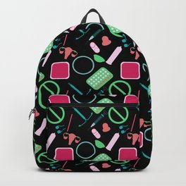 Contraception Pattern (Black) Backpack