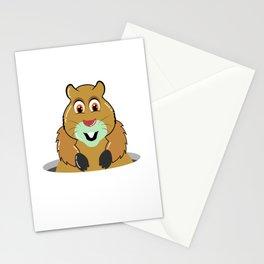 it's goundhog day it's marmot day marmot Stationery Cards