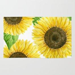 Sunflowers watercolor Rug