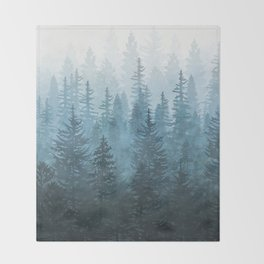 My Misty Secret Forest Throw Blanket