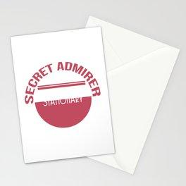 Cute & lovely Admirer Tee Design Stalker Stationery Cards