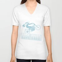 die hard V-neck T-shirts featuring hard by The Junkers