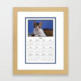 Cat Calendar 2013 Framed Art Print