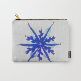 WATERCOLOR SNOWFLAKE 6 - blue and purple palette Carry-All Pouch