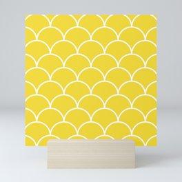 Scales - yellow Mini Art Print