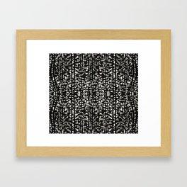 Black and White Grunge Tonal Print Framed Art Print