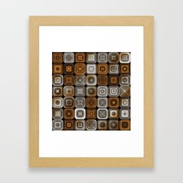 Geometric chocolate pattern Framed Art Print