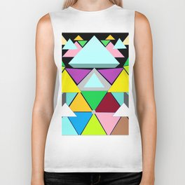 Abstract Geometry Biker Tank