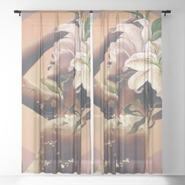 Floral beauty 3 Sheer Curtain