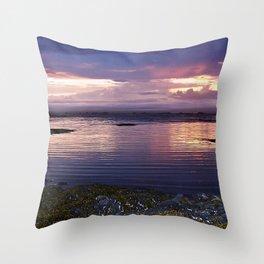Sunset Split Throw Pillow