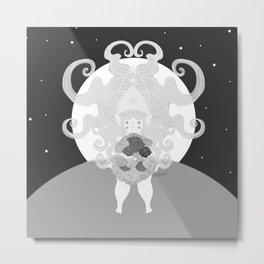 Graphic Fairy Metal Print