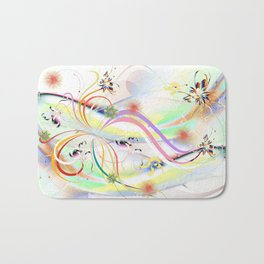 Abstrakt - Frühling 1 Bath Mat