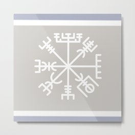 The Vegvísir - Icelandic Magical Stave Metal Print