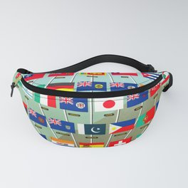The World Is Yours - Vintage Airline Poster Fanny Pack