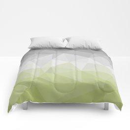 light green and grey polygon Comforters
