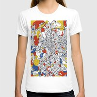 rome T-shirts featuring Rome by Mondrian Maps